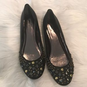 Bakers flats in black with studded front
